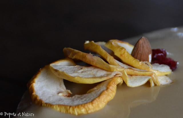 pommes séchées maison au déshydrateur © Popote et Nature