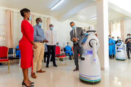 See The Robots That Will Be Used To Attend To Covid19 Patients In Rwanda (PHOTOS)