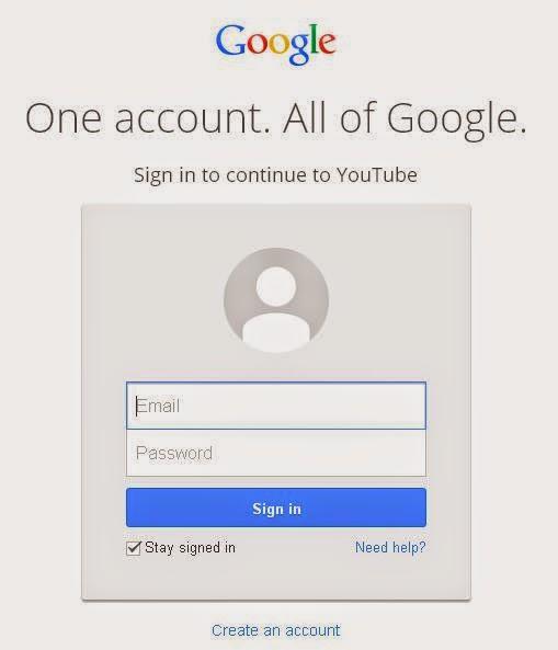Cara Mendaftar atau Membuat Akun Youtube