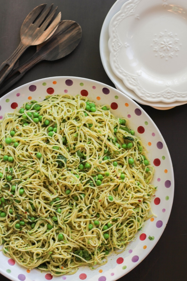 Pesto-Herbed Angel Hair and Peas | The Chef Next Door