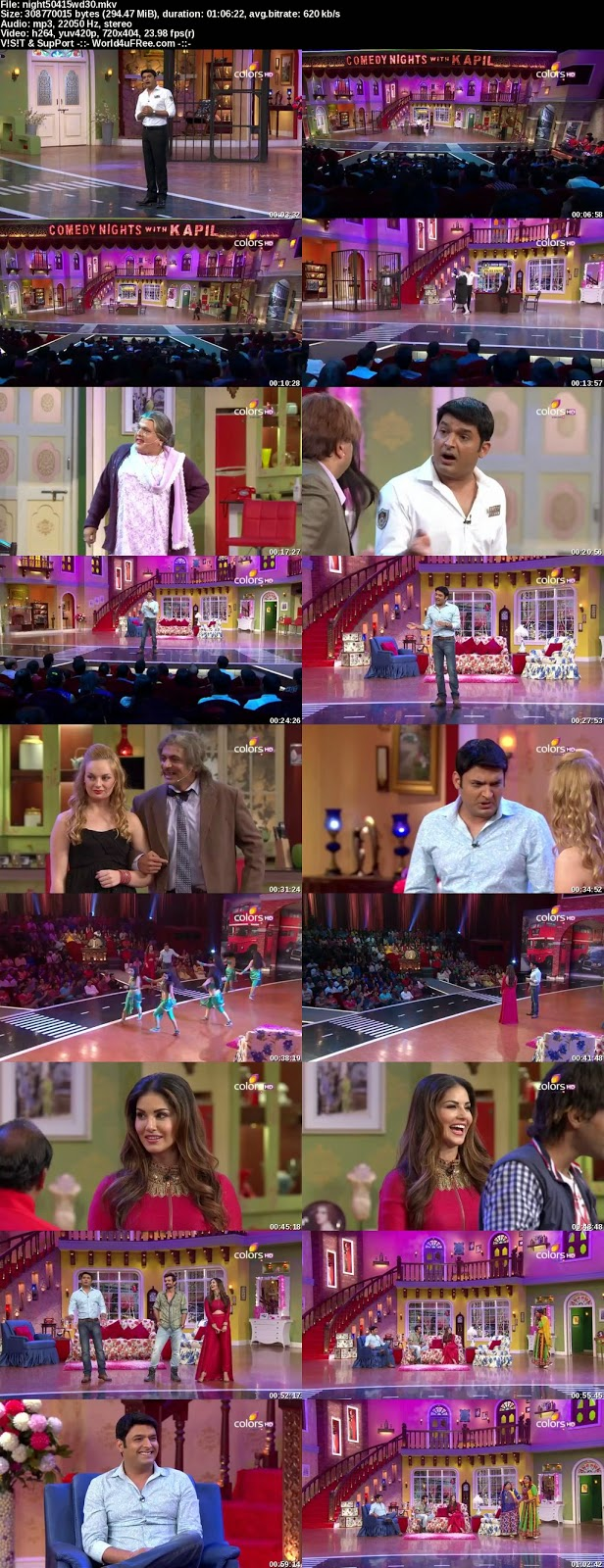 Download Comedy Nights With Kapil 5 April 2015 WEBHD 480p 300mb
