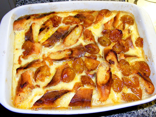 Bread and butter pudding. Prepared and Photographed by Susan Walter. Tour the Loire Valley with a classic car and a private guide.
