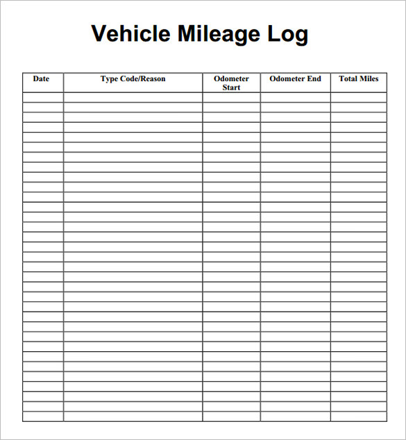 This is a photo of Printable Mileage Log throughout free pocket size expense log