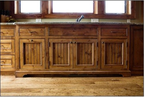 image result for alder wood rustic kitchen cabinets plank