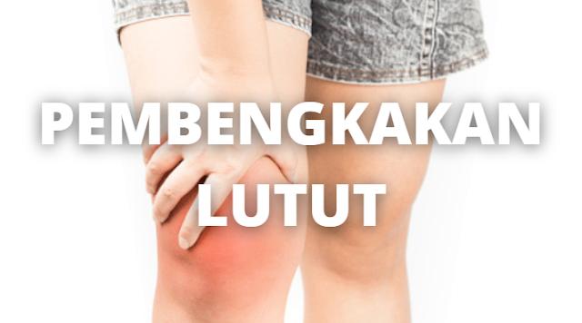 Penyakit Pembengkakan Lutut : Pengertian, Tanda dan Gejala, Penyebab, Faktor Risiko Pengertian Pembengkakan Lutut Pembengkakan lutut atau bisa dikatakan sebuah efusi, mengacu pada pembengkakan pada sendi lutut. Sebuah efusi bisa disebabkan banyak hal, termasuk cedera pada ligamen, tulang rawan, tulang, atau struktur sekitarnya.  Pembengkakan bisa terjadi dalam sendi lutut (efusi) atau di luar sendi otot (bursitis), dan dapat terjadi tiba-tiba sebagai akibat cedera atau perlahan sebagai akibat cedera berlebihan.  Tanda dan Gejala Pembengkakan Lutut Gejalanya tergantung pada penyebab dan kondisi pembengkakannya dari ringan sampai parah. Nyeri, kemerahan, demam, dan mengigil juga bisa terjadi. Lutut bisa memar atau kaku sehingga sulit untuk berjalan.  Penyebab Pembengkakan Lutut Banyak penyebab efusi termasuk cedera seperti luka pada ligamen anterior cruciate (ACL), posterior cruciate (PCL), dan medial dan lateral collateral (MCL, LCL).  Robekan meniskus (tulang rawan lutut), fraktur tulang sendi lutut, atau cedera pada tulang rawan yang melapisi bagian dalam tulang (tulang rawan artikular) juga dapat menyebabkan efusi lutut.  Bursitis, tendinitis, tegang, dan keseleo merupakan penyebab pembengkakan di luar sendi lutut. Cedera berat, seperti tabrakan saat kontak dalam berolahraga atau terjatuh, dapat menyebabkan cairan atau darah bertambah di dalam lutut.  Patah tulang, arthritis, encok, kista, tempurung lutut terkilir, infeksi, tumor, dan penuaan merupakan penyebab lainnya.  Berbalik, berhenti, bergerak dari satu sisi ke sisi lain tiba-tiba, dan pendaratan yang kaku bisa menyebabkan ketegangan lutut.  Faktor Risiko Pembengkakan Lutut Berikut ini adalah faktor risiko dari pembengkakan lutut : Usia Kemungkinan perkembangan pembengkakan lutut berhubungan dengan arthritis yang meningkat seiring bertambahnya usia. Olahraga Orang-orang yang berolahraga yang melibatkan memutar lutut, seperti basket, lebih mungkin mengalami jenis cedera lutut yang menyebabkan pembengkakan. Ob