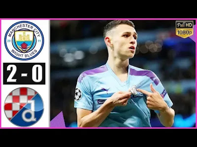 Manchester City vs Dinamo Zagreb 2-0 All Goals And Match Highlights [MP4 & HD VIDEO]