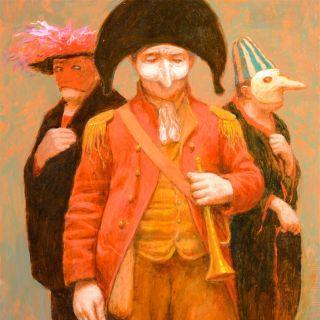 Герои картин Кенне - театрально одетые люди. Kenne Gregoire