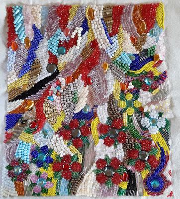 Beauty in Anxiety bead art