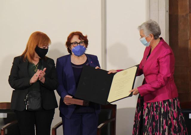 Premio Nacional de Derechos Humanos 2020 a Rosa María Álvarez González por su destacada labor en favor de las mujeres