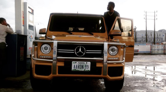 'Soft Work!' Super Eagles player Aaron Samuel customizes his new G-Wagon