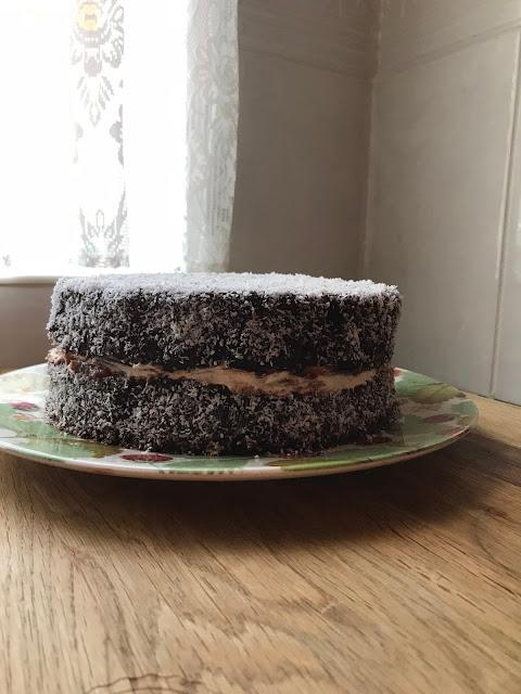 Fluffy Gluten Free Lamington Sponge Cake