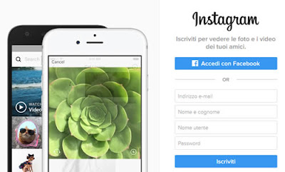 Come registrarsi ad Instagram