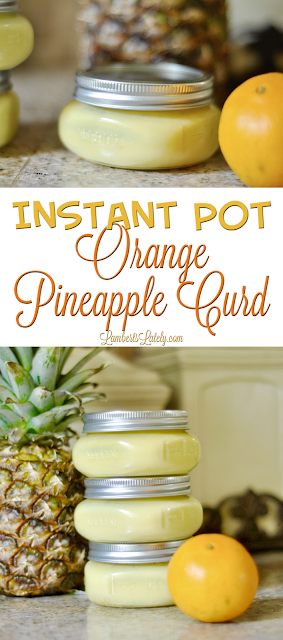 Instant Pot Orange Pineapple Curd || Pressure Cooker Sauce Recipe || How to Make Fruit Spread
