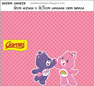 Etiquetas para Fiesta de Care Bears para imprimir gratis.