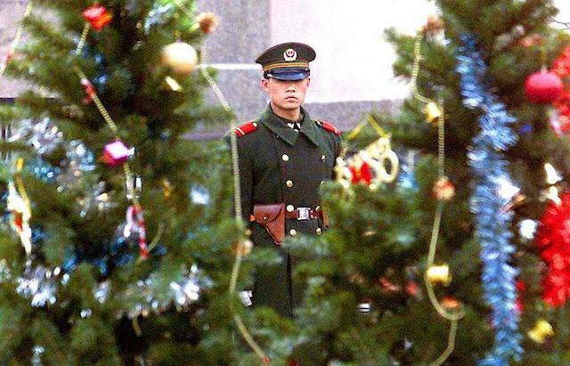 Natal na China foi visto como atividade ilegal. Foto arquivo