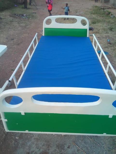 Meshack Otieno hospital beds.