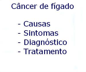 Câncer de fígado causas sintomas diagnóstico tratamento prevenção riscos complicações
