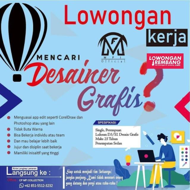 Lowongan Kerja Desainer Grafis MFI Collection Rembang