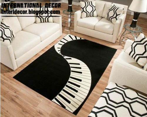 Unique Rug Piano Keys Style In The Form Of