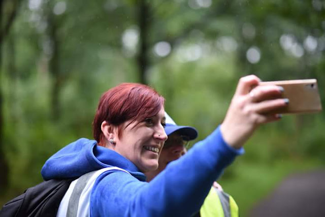 #BEDN : Who Is She?  One of my favourite photos of me! Taking a selfie at parkrun, looking slighty bedraggled!