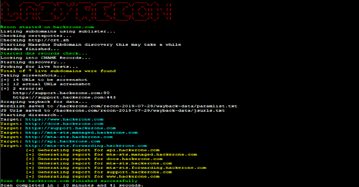 Lazyrecon : Automate Your Reconnaissance Process In An Organized Fashion