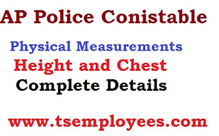 AP Police Conistable Physical Measurements Test (PMT) Detail and Conducting Date details height chest running complete dtails minimum hegiht for police conistable job minimum chest for Post 21 22 and 53 54 Andhra Pradesh  Police Conistable  Notification 2016 after written Preliminary Written Test those who are passed PWT they will attend second stage is Physical Measurements Test (PMT) in physical measurement test they should have following height chest measurements Stipendiary Cadet Trainee (SCT) Police Civil Men in Police Department Recruitment Notification 2016 at AR / SAR CPL / APSP/ SPF / Station Fire Officers (SFO) Man or Women Posts Communications transport.