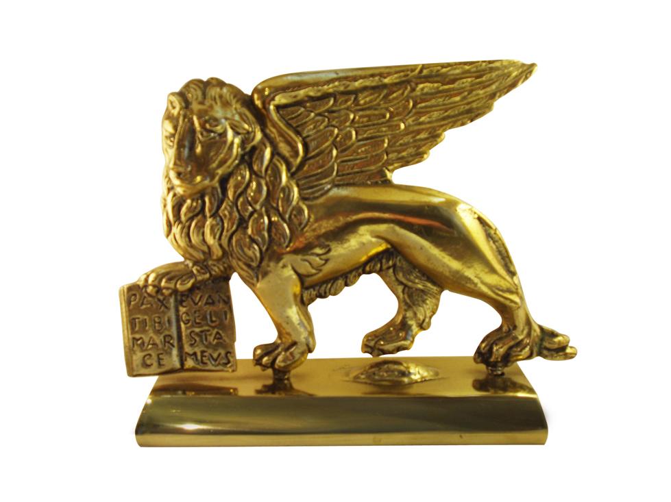 Lion Of St Mark Symbol Of Venice Vintage Solid Bronze