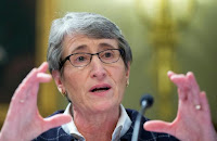 "Interior Secretary Sally Jewell took to Twitter on Tuesday to say the administration's next five-year offshore drilling plan ""protects the Atlantic for future generations."" (Credit: usnews.com) Click to Enlarge."