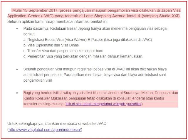 apply visa jepang