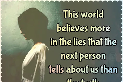 This world believes | Quote About Peoples