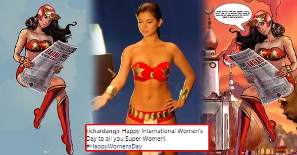Netizen Made An  Inspiring Artwork Of Darna  For The Celebration Of The  International Women's Day!