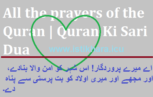 All the prayers of the Quran | Quran Ki Sari Dua