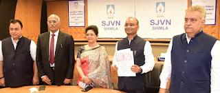 SJVN Ltd signed MoU with NIWE