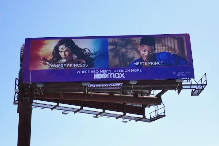 HBO Max Where Princess meets Prince billboard