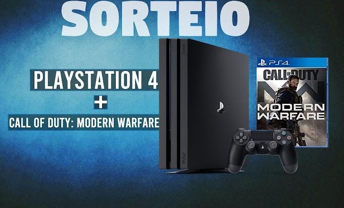 Sorteio de um PlayStation 4 + Call of Duty: Modern Warfare