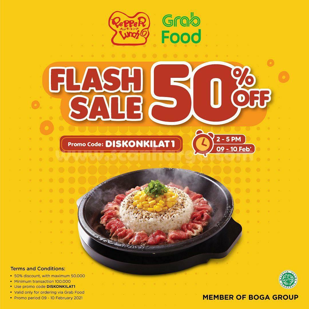 PEPPER LUNCH Spesial Promo GRABFOOD FLASH SALE! DISKON hingga 50%