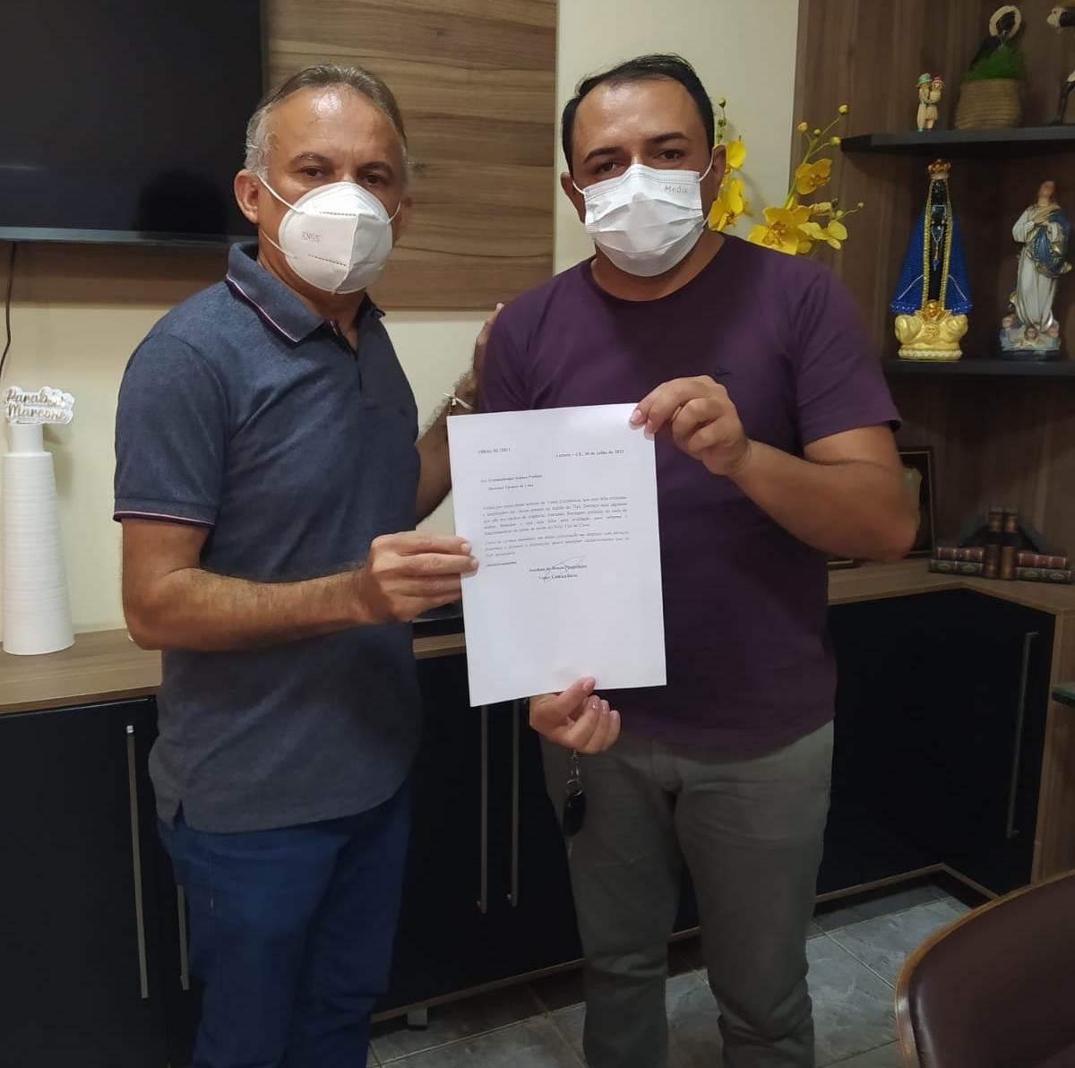 Sindicalista aurorense reivindica ao prefeito demandas para a região do Tipi