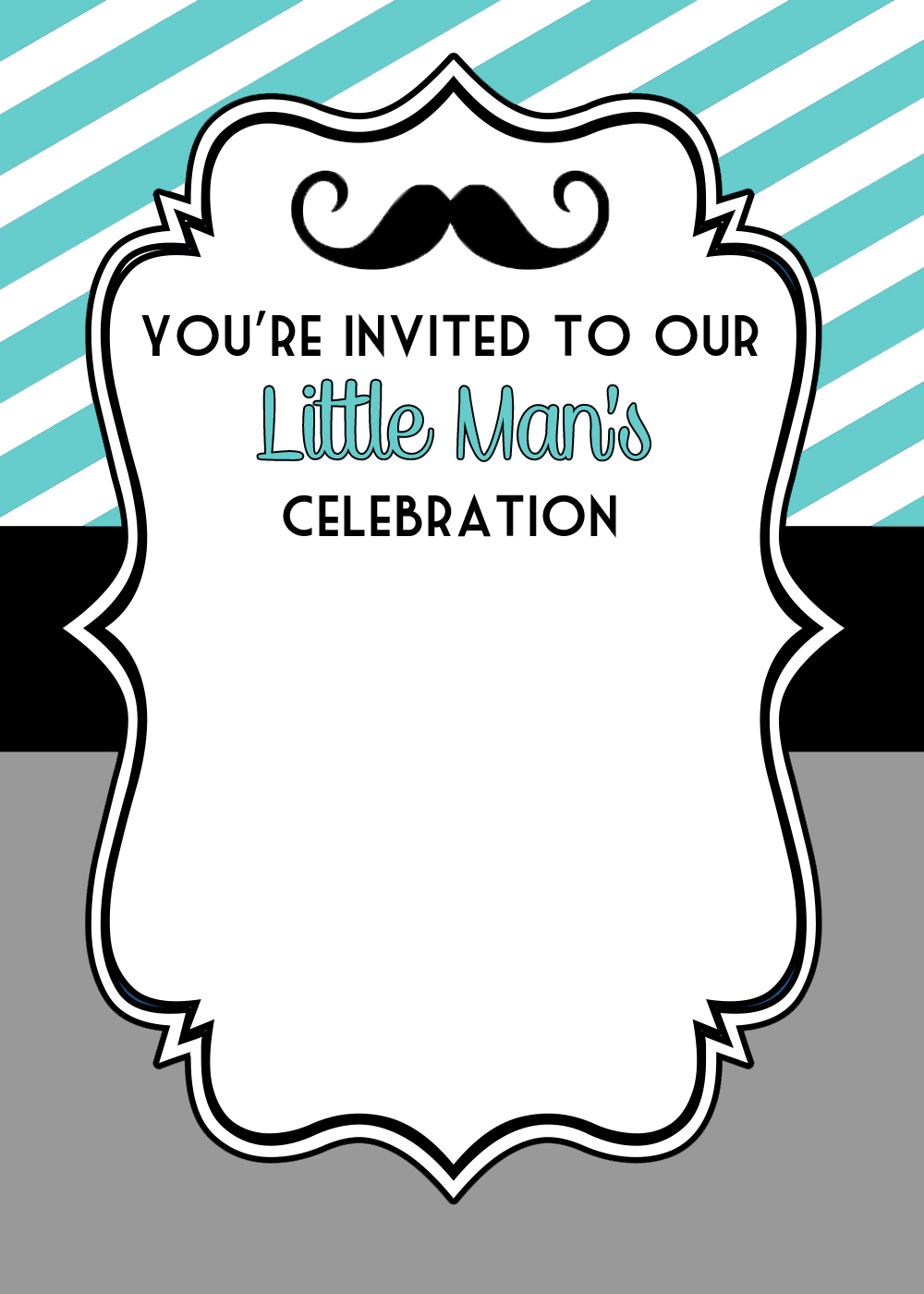 Little Man Party Free Printables