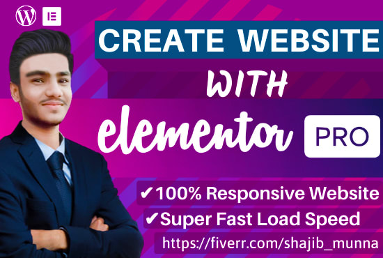 Design #wordpress website by #Elementor pro page builder - WordPress - Full Website Creation