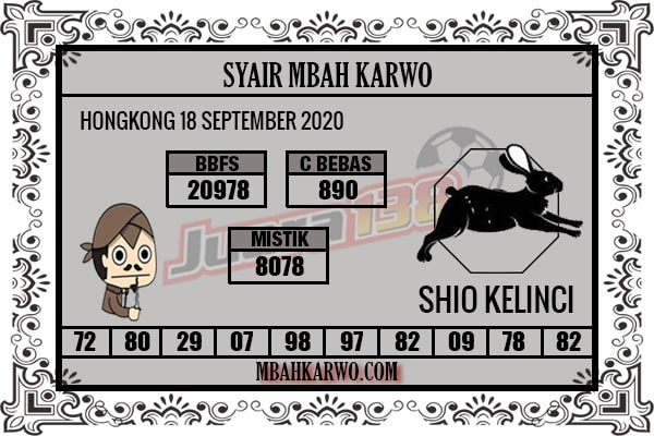 Syair HK Jumat 18 September 2020 -