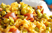 Αρακάς με ρύζι και ριγανάτα λουκάνικα - by https://syntages-faghtwn.blogspot.gr