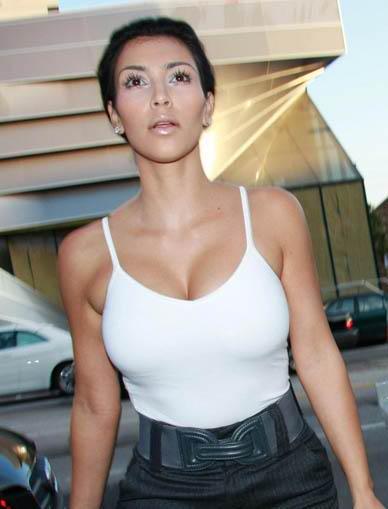 kim kardashian big breast