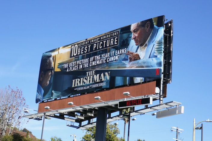 Irishman 10 Academy Award nominations billboard
