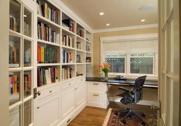 26 CORNER OFFICE DESIGNS AND SPACE SAVING FURNITURE PLACEMENT IDEAS