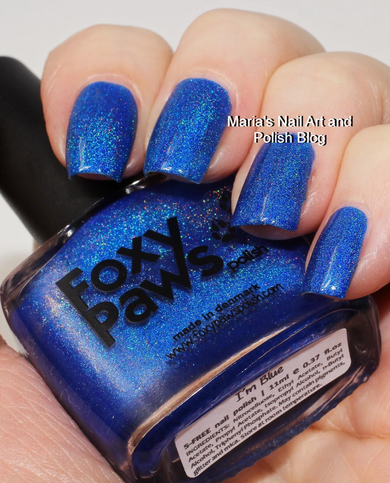 marias nail art and polish blog foxy paws i u0027m blue swatches