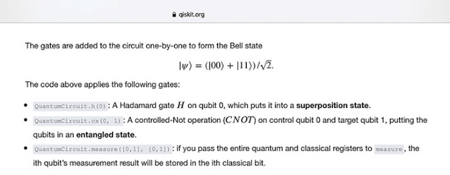 The Bell state for two entangled qubits (Source: Qiskit tutorial)