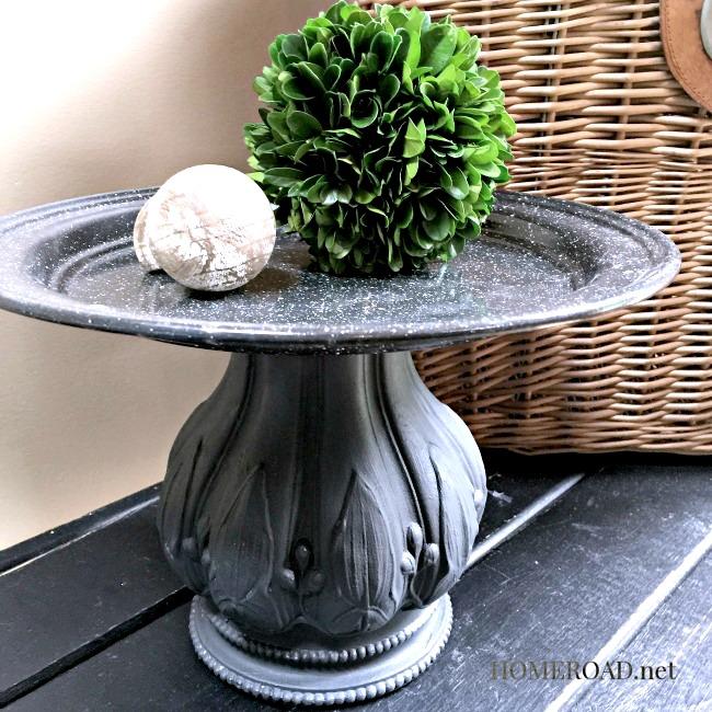 A DIY Metal Pedestal Dish www.homeroad.net