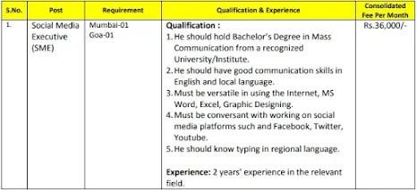 BECIL Recruitment 2021: Apply for Social Media Executive Posts