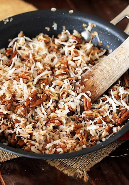 Toasted Coconut and Pecan Topping for Coconut Cream Yum Yum Image
