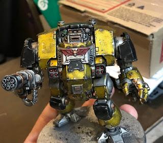 Imperial Fists 40k Dread Metallic Yellow